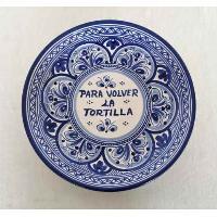PLATO PARA VOLVER LA TORTILLA 25 CM AZUL